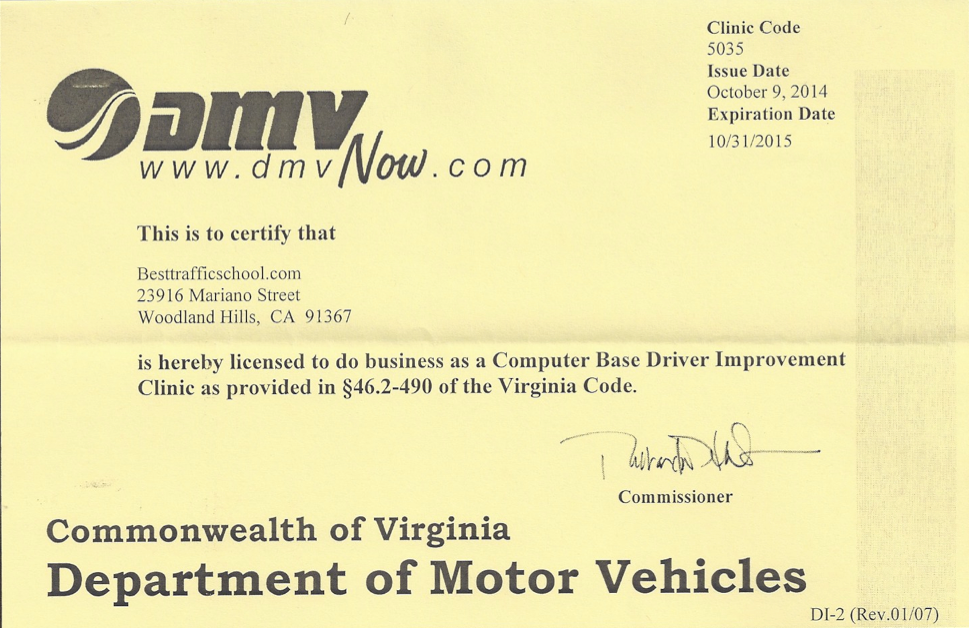 Va Besttrafficschool Com Dmv Licensed